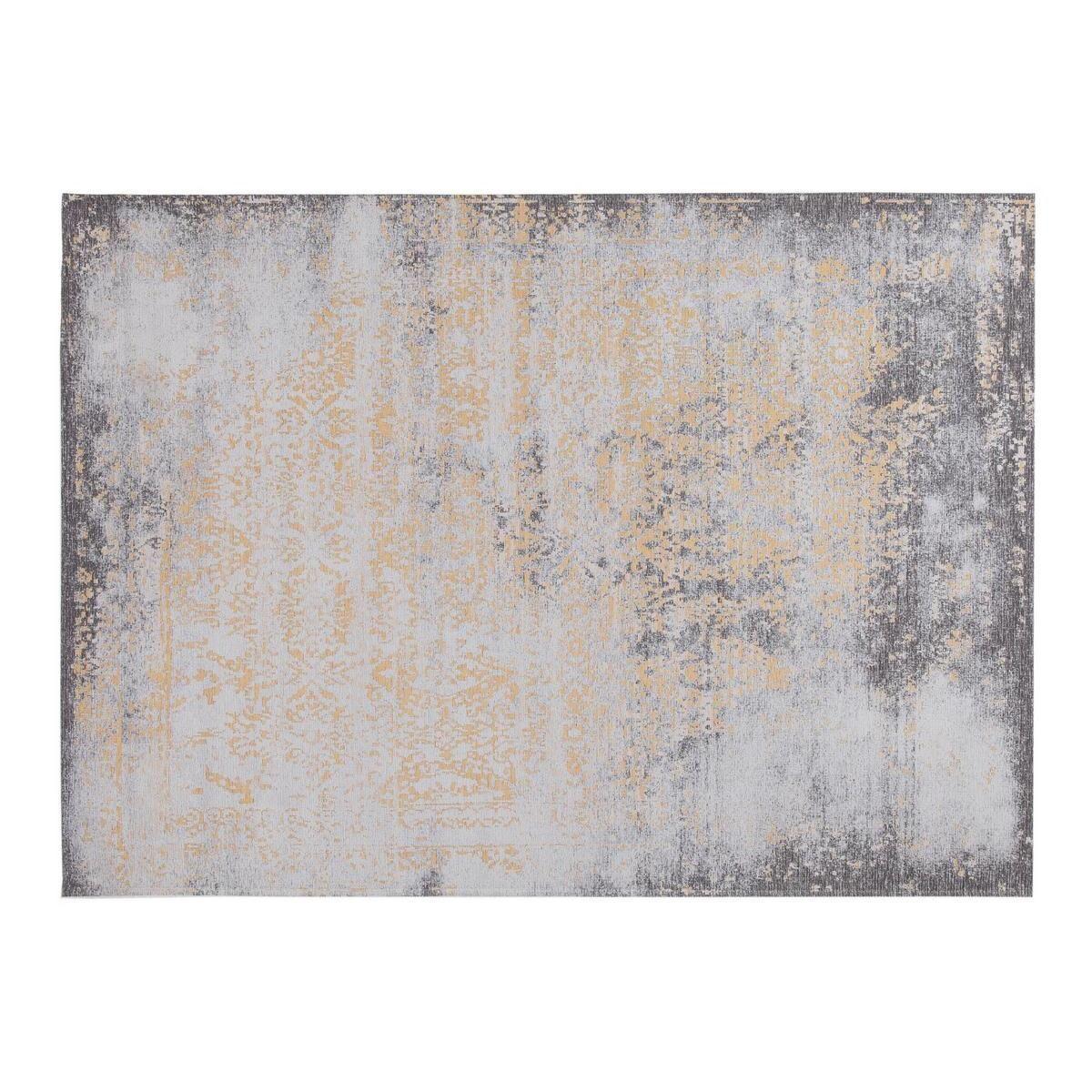 Miliboo Tapis effet usé jaune or et brun avec motif tissé 160 x 230cm - ASTRA