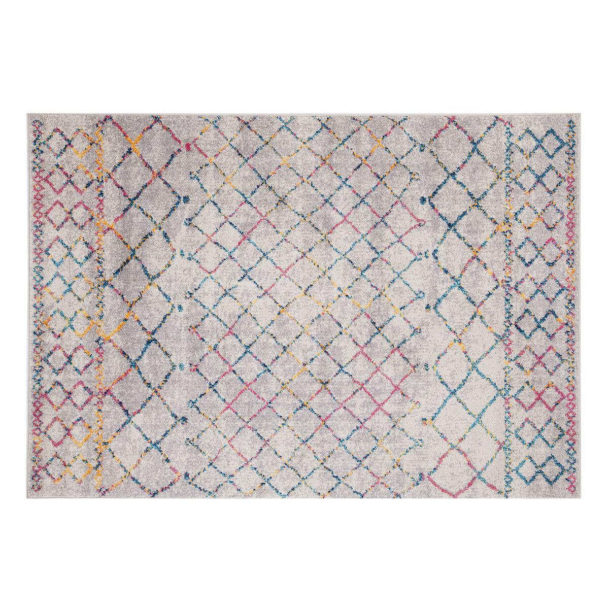 Miliboo Tapis style berbère gris et multicolore 160 x 230 cm CIELO