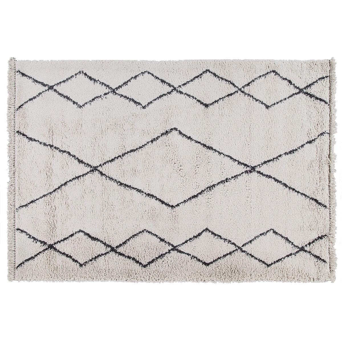 Miliboo Tapis style berbère motif noir 160 x 230 cm TRIBU