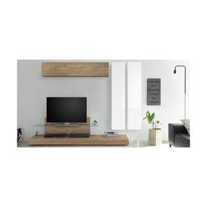 Miliboo Élément mural TV vertical laqué blanc ETERNEL - Publicité