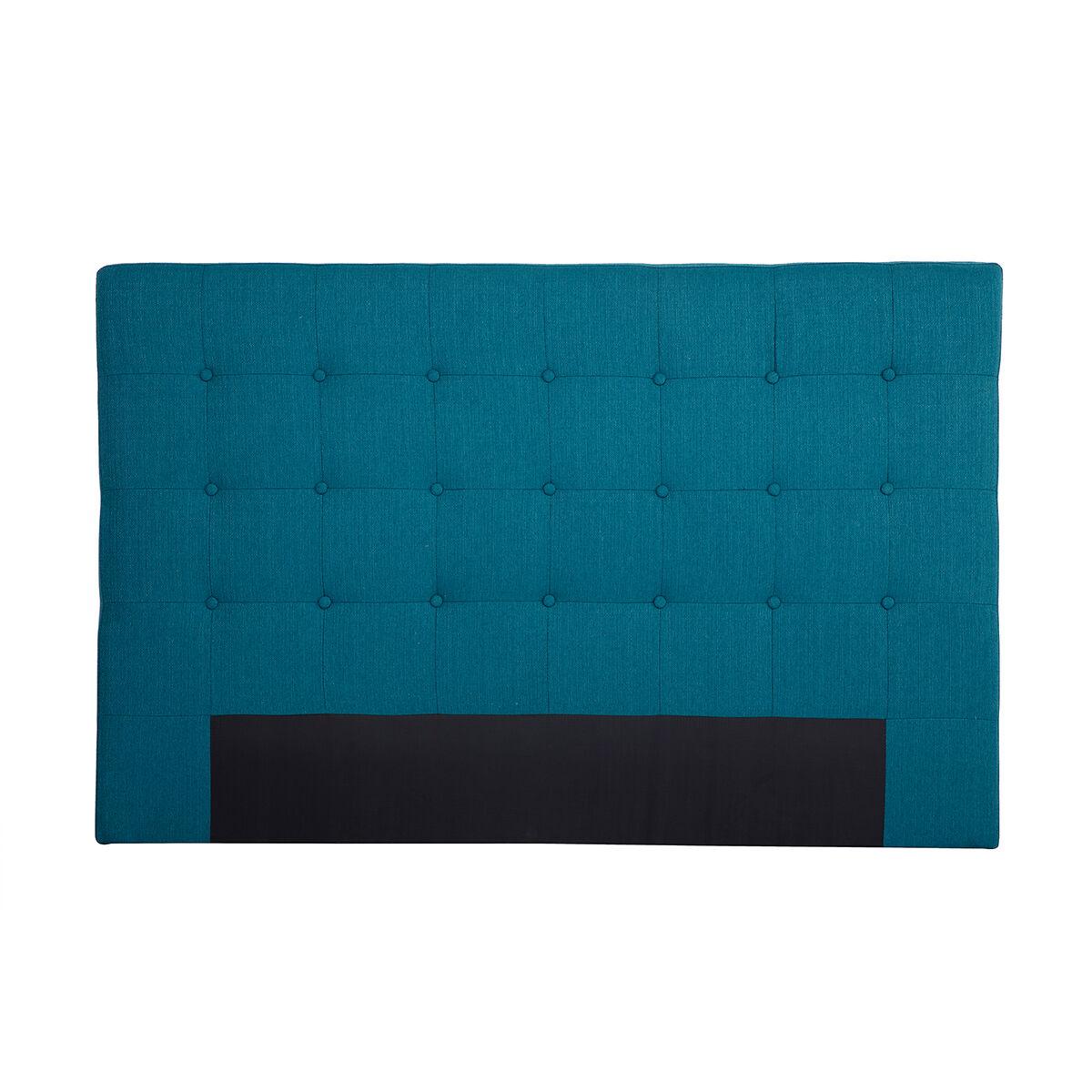 Miliboo Tête de lit en tissu bleu canard 170 cm LUTECE