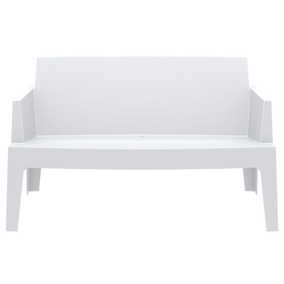 Miliboo Banc de jardin design blanc LALI