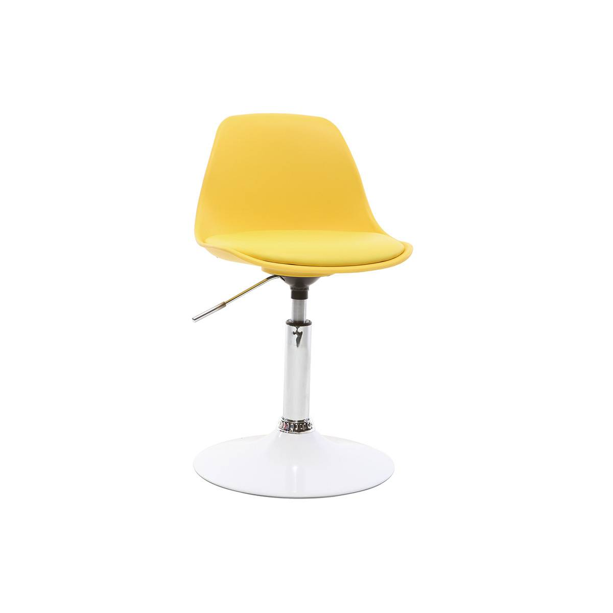 Miliboo Chaise de bureau design enfant jaune STEEVY