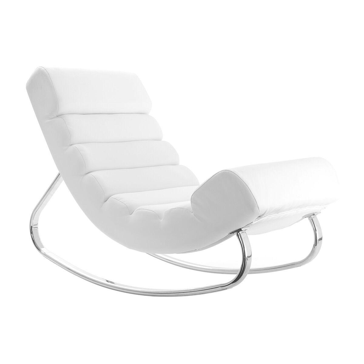 Miliboo Rocking chair design blanc TAYLOR