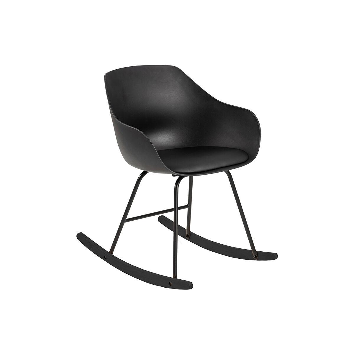 Miliboo Rocking chair design noir KAALA