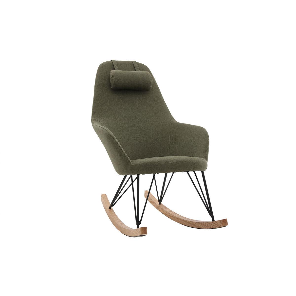Miliboo Rocking chair scandinave kaki JHENE - Miliboo & Stéphane Plaza