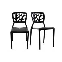 Miliboo Chaises design noires empilables intérieur / extérieur (lot de 2) KATIA <br /><b>154.99 EUR</b> Miliboo