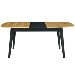 Miliboo Table à manger extensible bois et noir L140-180 cm MEENA - Miliboo & Stéphane Plaza - Publicité