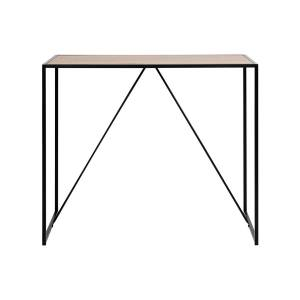 Miliboo Table de bar en bois et pieds en métal noir TRESCA - Publicité