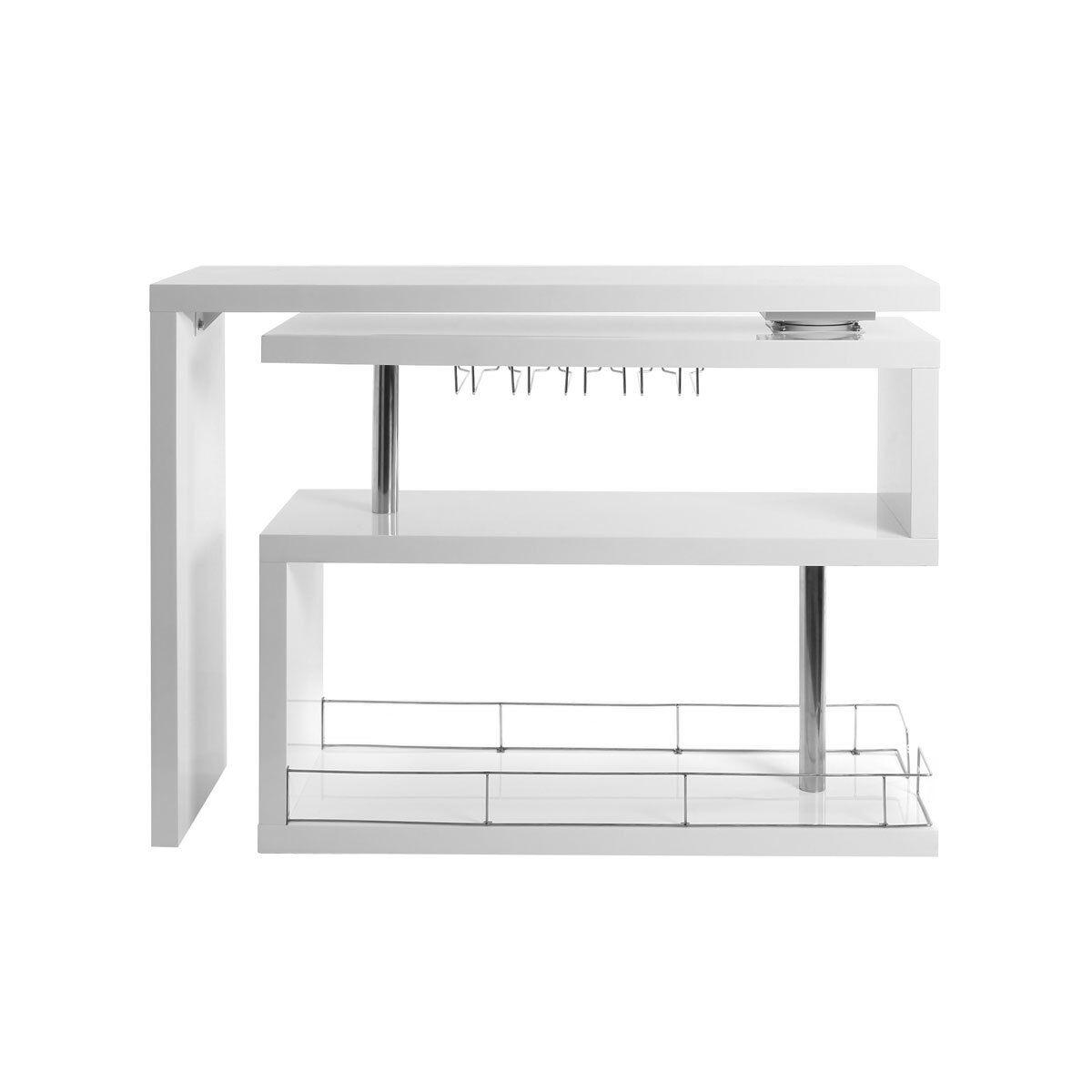 Miliboo Bar design laqué blanc amovible MAX