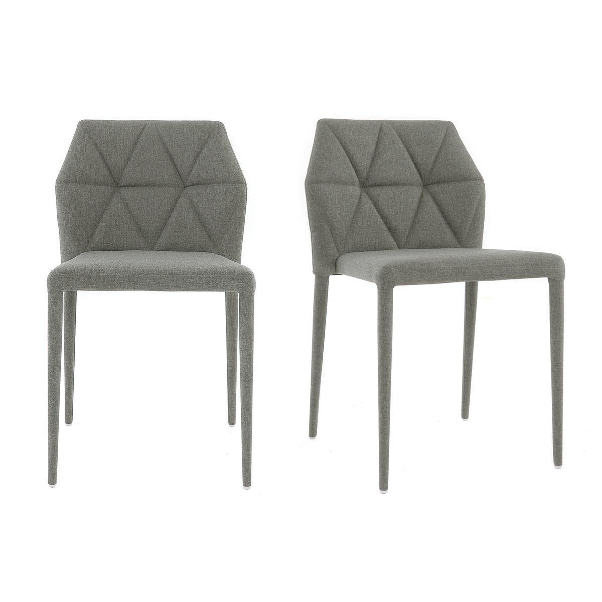 Miliboo Chaises empilables design gris clair (lot de 2) KARLA