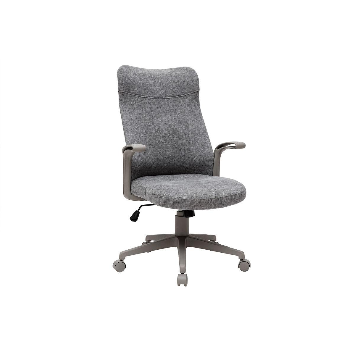 Miliboo Fauteuil de bureau design tissu gris RISTER