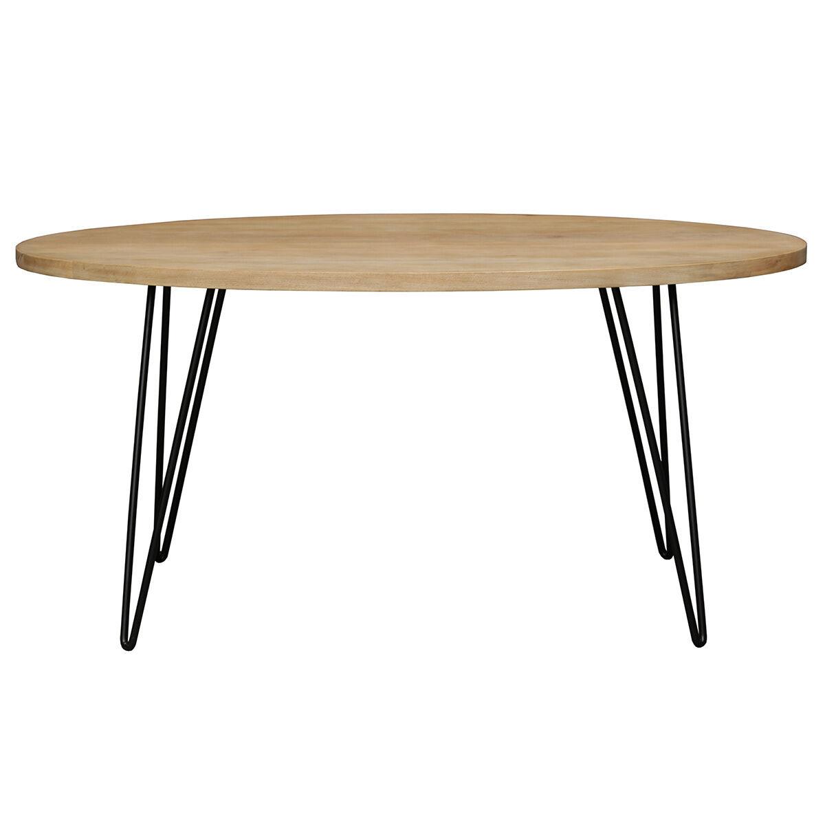 Miliboo Table à manger ovale en manguier massif L160 cm VIBES