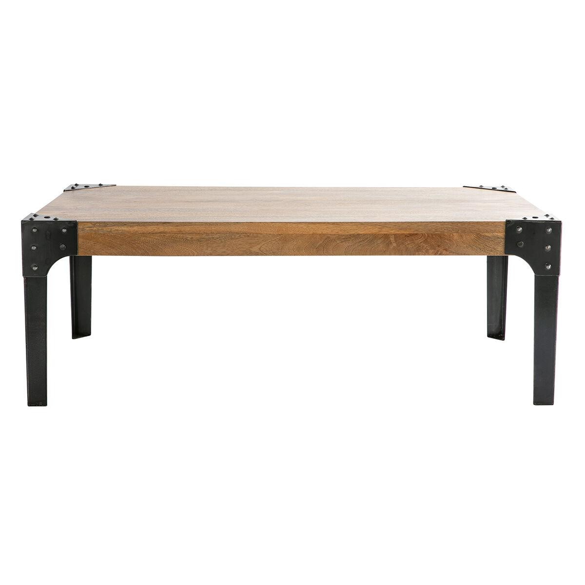 Miliboo Table basse industrielle métal et manguier massif L120 cm MADISON