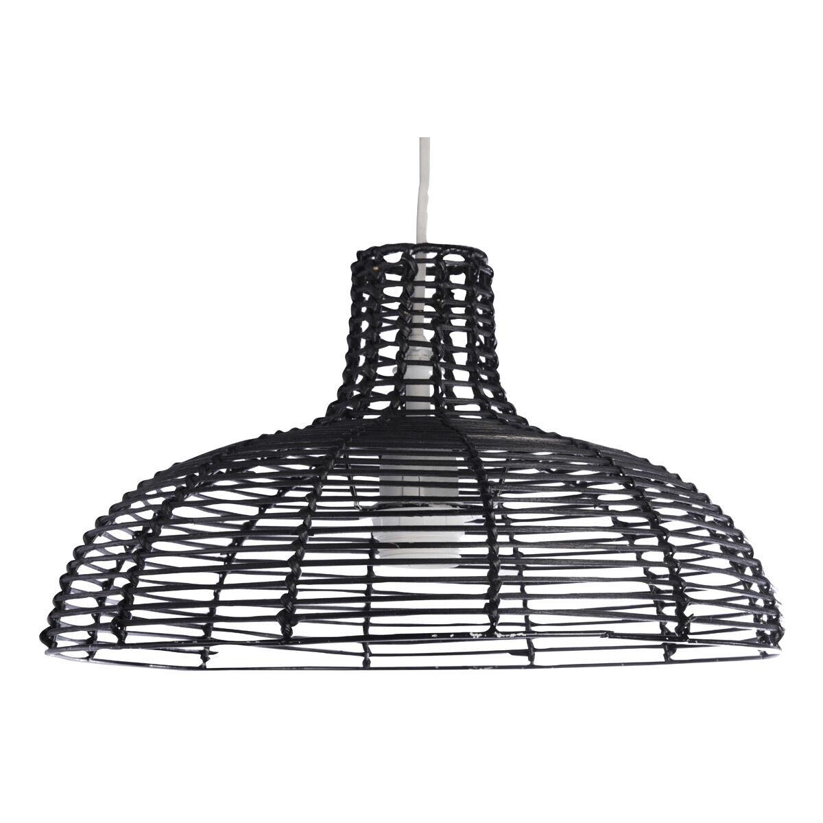 Miliboo Suspension design en bambou noir CUP