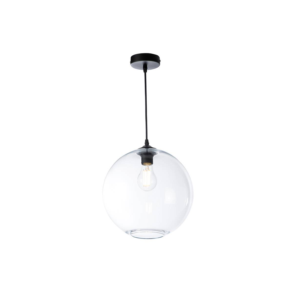 Miliboo Suspension globe en verre transparent D30 cm DUNA