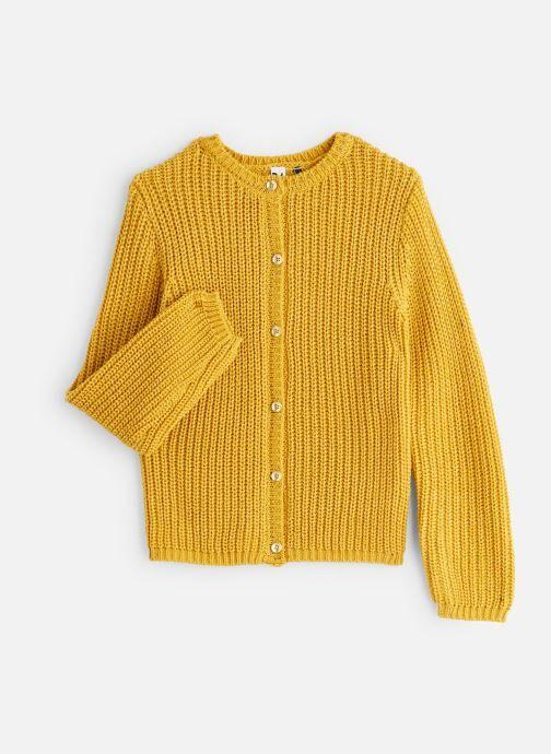 3 Pommes Gilet Tricot Jaune Moutarde - Lurex doré - Vêtements Accessoires, Jaune