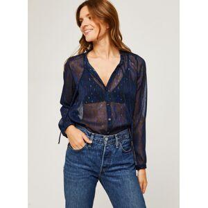 IKKS Women Blouse Br13035 - Vêtements Accessoires, Bleu - Publicité