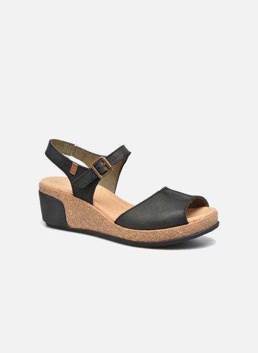 El Naturalista Leaves N5000 - Sandales et nu-pieds Femme, Noir