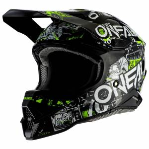 O'Neal Casque cross O'Neal SERIES 3 - ATTACK 2.0 - BLACK NEON YELLOW GLOSSY 2022 Black Neon Yellow - Publicité