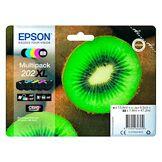 Epson 202xl pack 5 cartouches haute capacité 2noires + 3 couleurs pour imprim...