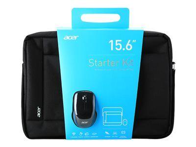 """Acer starter kit - lot d'accessoires pour notebook - 15.6"""" - noir"""