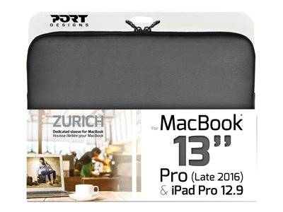 """Port zurich - housse d'ordinateur portable - 13"""" - noir - pour apple macbook ..."""
