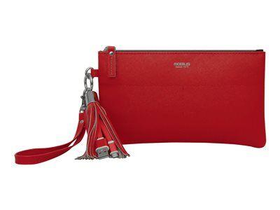Mobilis origine pouch - étui pour téléphone portable - imitation cuir - rouge