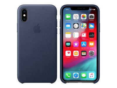 Apple - coque de protection pour téléphone portable - cuir - bleu nuit - pour...