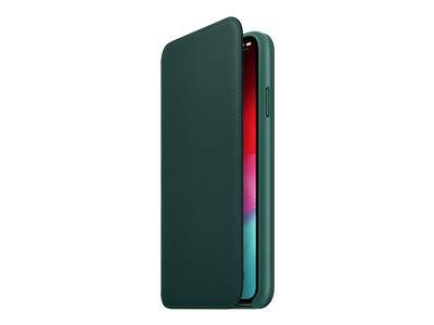 Apple folio - protection à rabat pour téléphone portable - cuir - vert forêt ...
