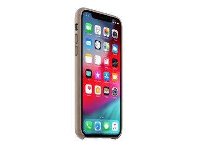Apple - coque de protection pour téléphone portable - cuir - taupe - pour iph...