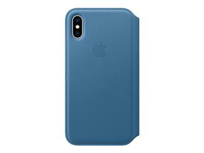 Apple folio - protection à rabat pour téléphone portable - cuir - bleu cod ca...