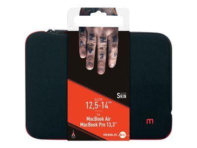 """Mobilis skin - housse d'ordinateur portable - 12.5"""" - 14"""" - noir, rouge sang"""