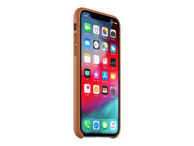 Apple - coque de protection pour téléphone portable - cuir - marron selle - p...