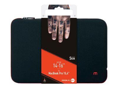 """Mobilis skin - housse d'ordinateur portable - 14"""" - 16"""" - noir, rouge sang"""
