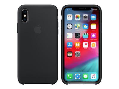 Apple - coque de protection pour téléphone portable - silicone - noir - pour ...