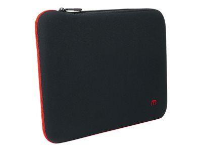 """Mobilis skin - housse d'ordinateur portable - 10"""" - 12.5"""" - noir, rouge sang"""