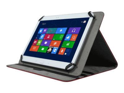 Port muskoka - coque de protection pour tablette - cuir polyuréthane - rouge