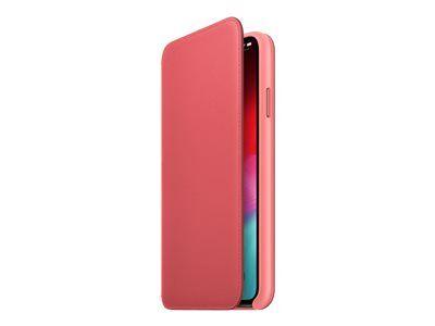Apple folio - protection à rabat pour téléphone portable - cuir - rose pivoin...