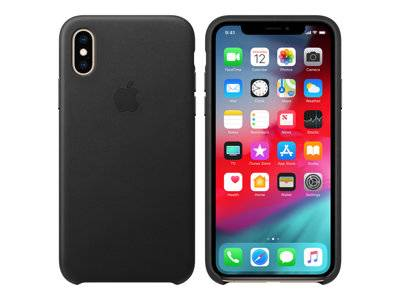 Apple - coque de protection pour téléphone portable - cuir - noir - pour ipho...