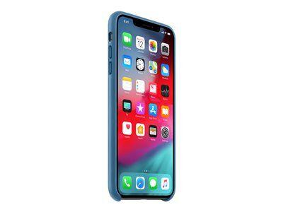 Apple - coque de protection pour téléphone portable - cuir - bleu cod cap - p...