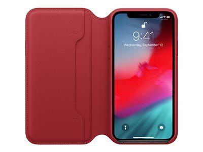 Apple folio (product) red - protection à rabat pour téléphone portable - cuir...