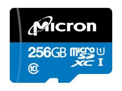 Micron - carte mémoire flash - 256 go - a1 / uhs-i u1 / class10 - microsdxc u...