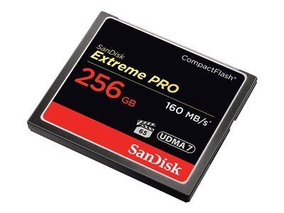 Sandisk extreme pro - carte mémoire flash - 256 go - 933x/1067x - compactflash
