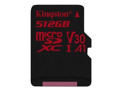 Kingston canvas react - carte mémoire flash - 512 go - a1 / video class v30 /...