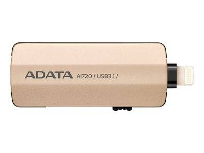 Adata i-memory ai720 - clé usb - 32 go - usb 3.1 / lightning - or - pour appl...