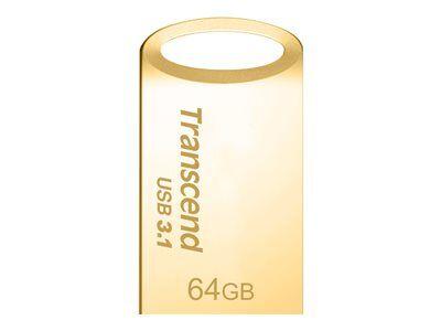 Transcend jetflash 710 - clé usb - 64 go - usb 3.1 - or