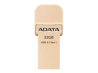 Adata i-memory ai920 - clé usb - 128 go - usb 3.1 / lightning - or