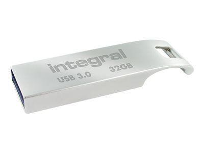 Integral arc usb 3.0 - clé usb - 32 go - usb 3.0 - zinc