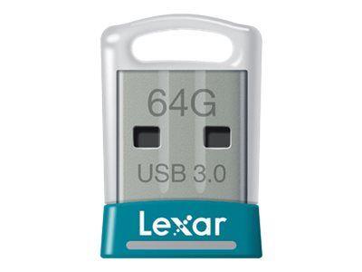 Lexar jumpdrive s45 - clé usb - 64 go - usb 3.0 - teal